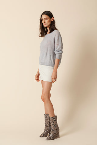 VIOLET-MOHAIR PULLOVER | ICE - FINAL SALE