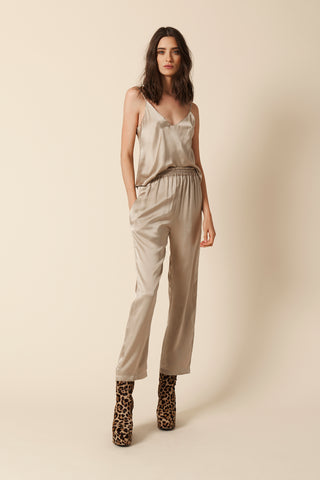 MILLE SILK PANT |TAUPE