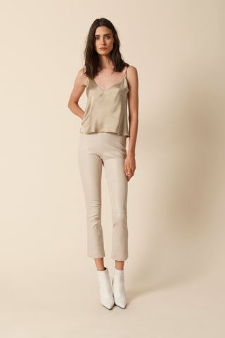 DEVON LEATHER PANT |TAN