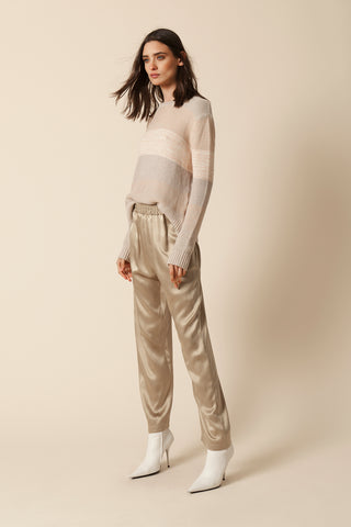 MILLE SILK PANT | CAMEL