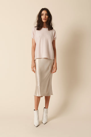 LONDON CASHMERE TEE | BLUSH - FINAL SALE