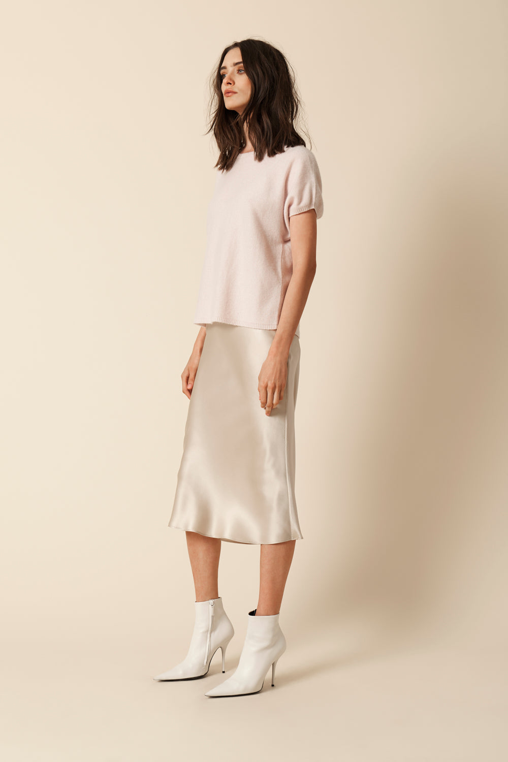 LONDON CASHMERE TEE | BLUSH