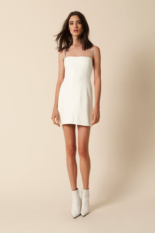 MIRA LEATHER DRESS | WHITE