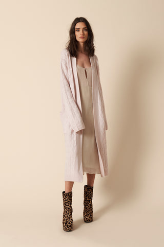 VANESSA CASHMERE COAT | BLUSH