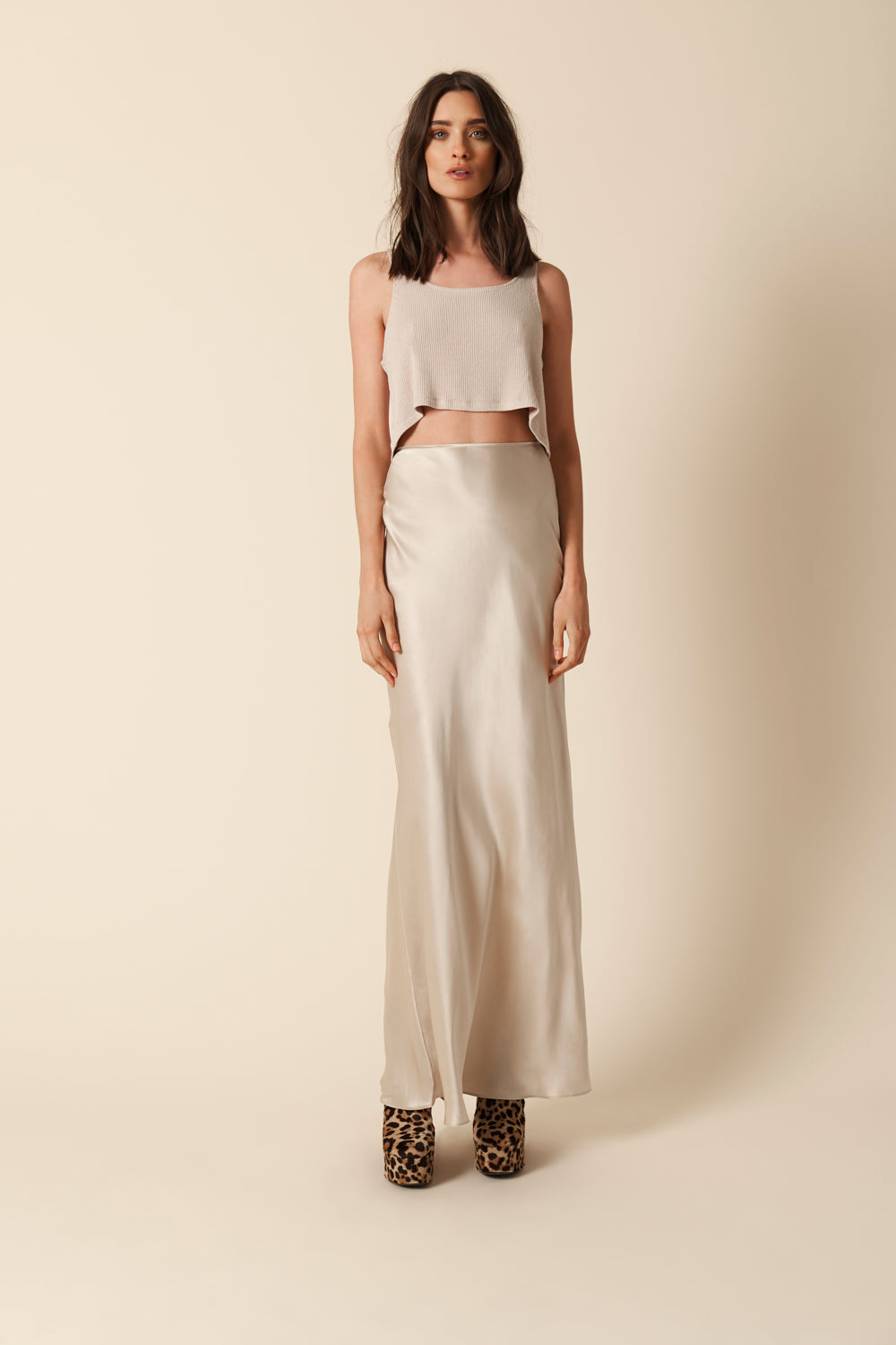 VALENTINA SILK SKIRT | BLUSH