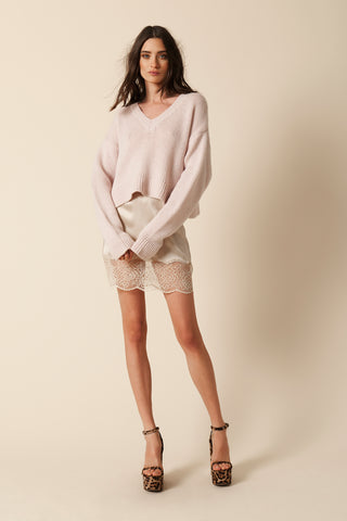 XANDER SILK WITH LACE SKIRT | BLUSH