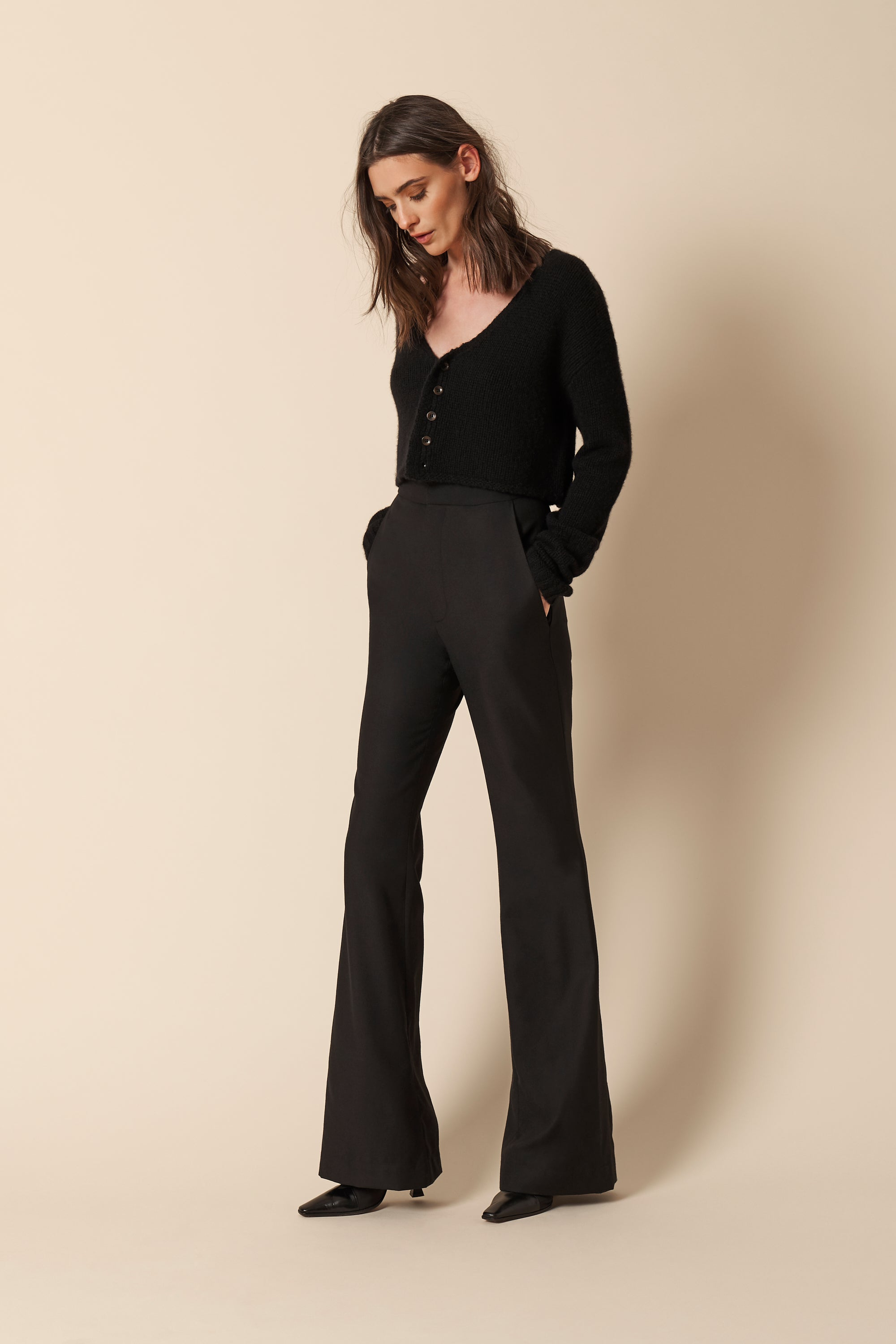 IRIS WOOL PANTS | BLACK