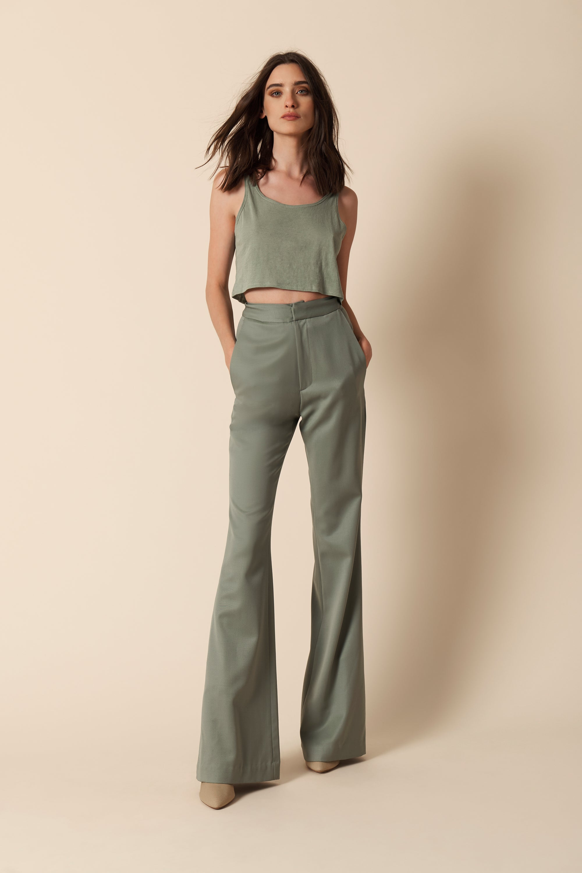 GEORGINA CASHMERE BLEND TOP | MINT