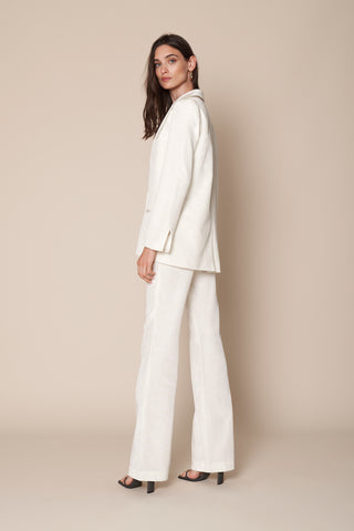 PETRA MOIRE BLAZER | WHITE - FINAL SALE