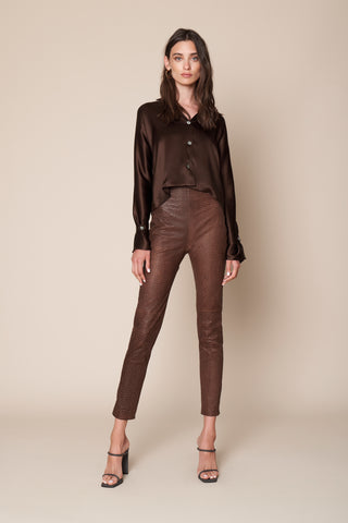 PRESLEY BLOUSE | CHOCOLATE - FINAL SALE