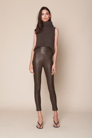 JESSICA HIGH WAISTED LEGGING | CHOCOLATE