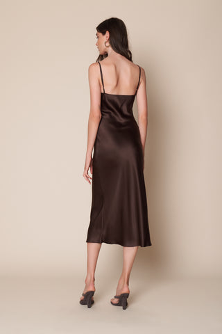 TAYLOR SLIP DRESS | CHOCOLATE