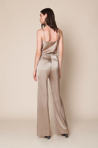 SABLE SILK PANT | TAUPE