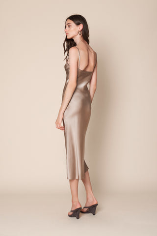 TAYLOR SLIP DRESS | TAUPE