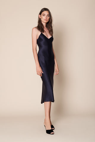 TAYLOR SLIP DRESS | NAVY