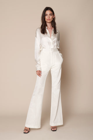 ERIN MOIRE TROUSER | WINTER WHITE - FINAL SALE