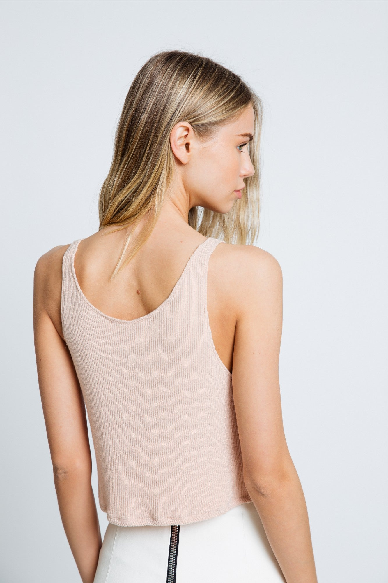 GEORGINA COTTON TANK | RUST