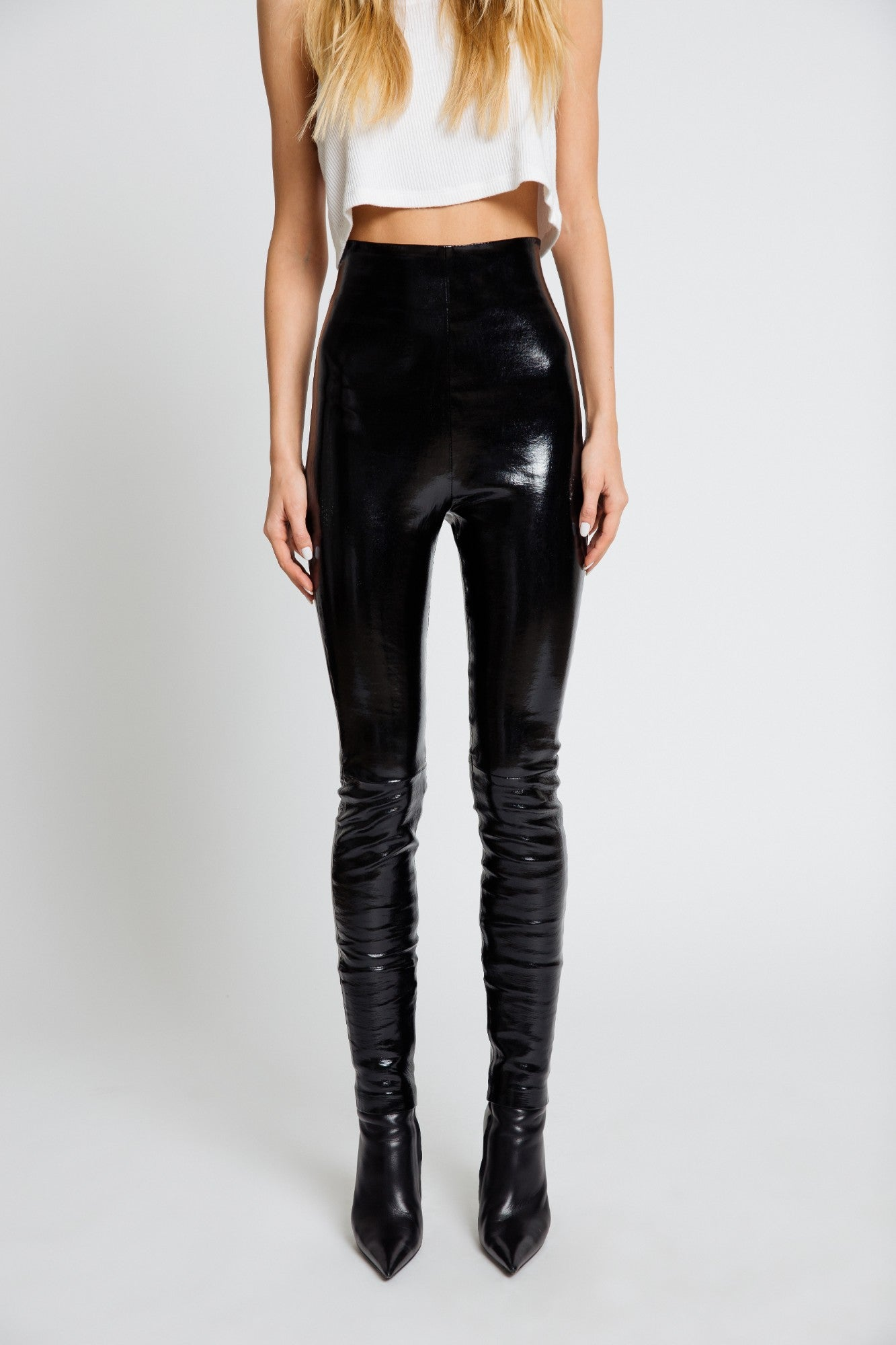JESSICA HIGH WAISTED LEGGING | BLACK PATENT LEATHER