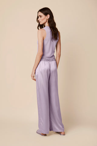 DENVER LOW WAIST SILK PANTS | LAVENDER