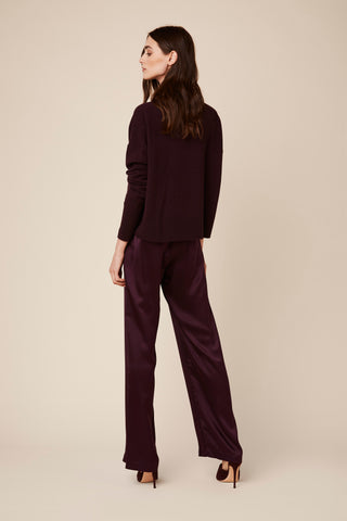 ADRYAN CASHMERE SWEATER  | BORDEAUX