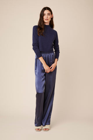 PENELOPE SILK PANTS | DENIM BLUE - Final Sale