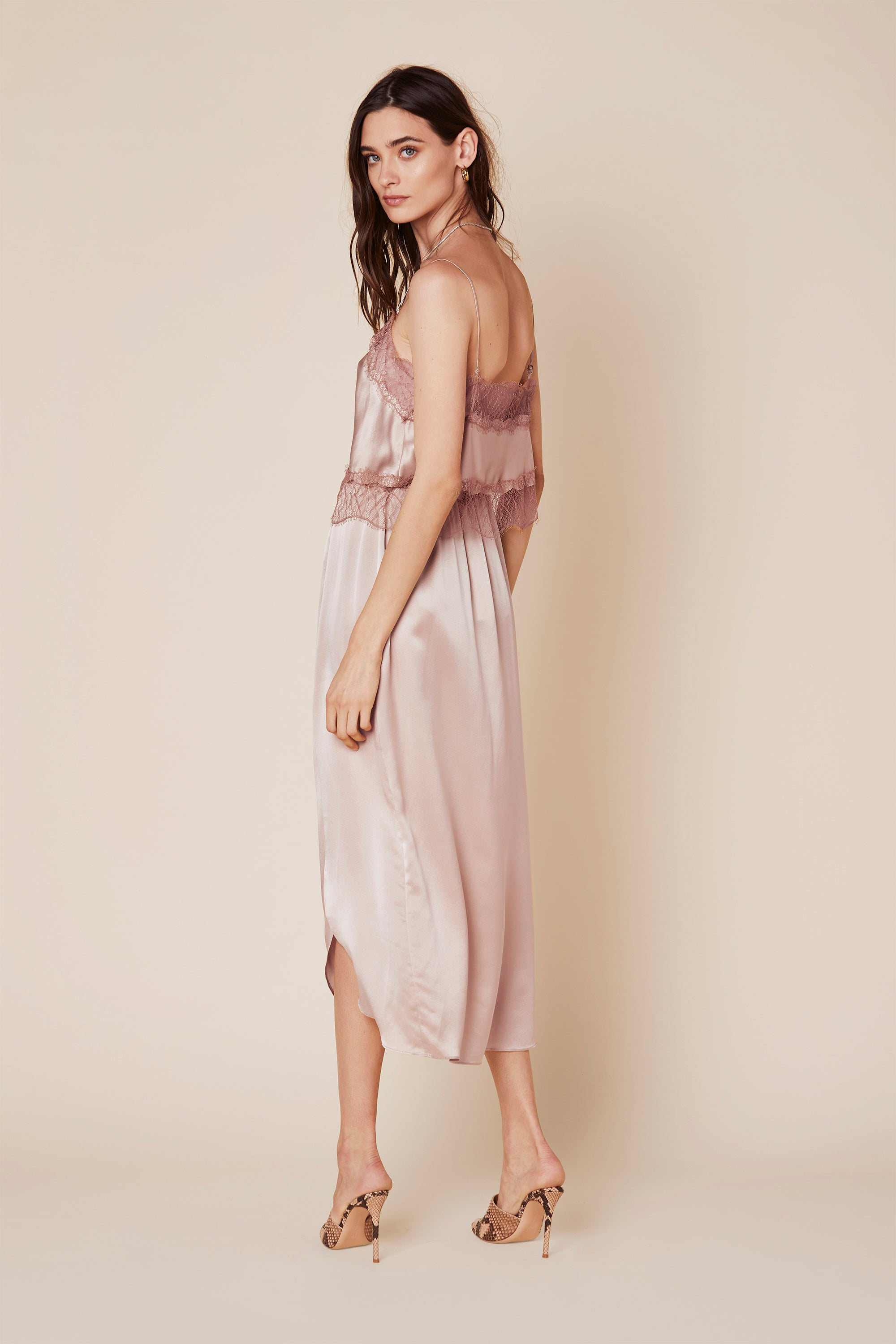 ARIEL SILK SKIRT | CHERRY BLOSSOM - Final Sale