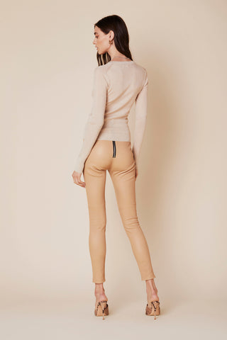 BLAIR CASHMERE SWEATER | FAWN - Final Sale