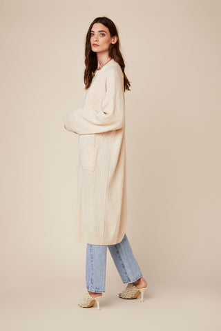 CADE LONG CASHMERE COAT | CREAM