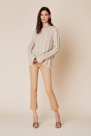 DEVON LEATHER PANT | FAWN