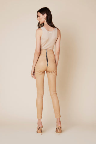 JESSICA HIGH WAISTED LEGGING | FAWN LEATHER