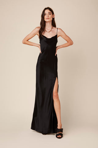 CHASE SILK DRESS | BLACK
