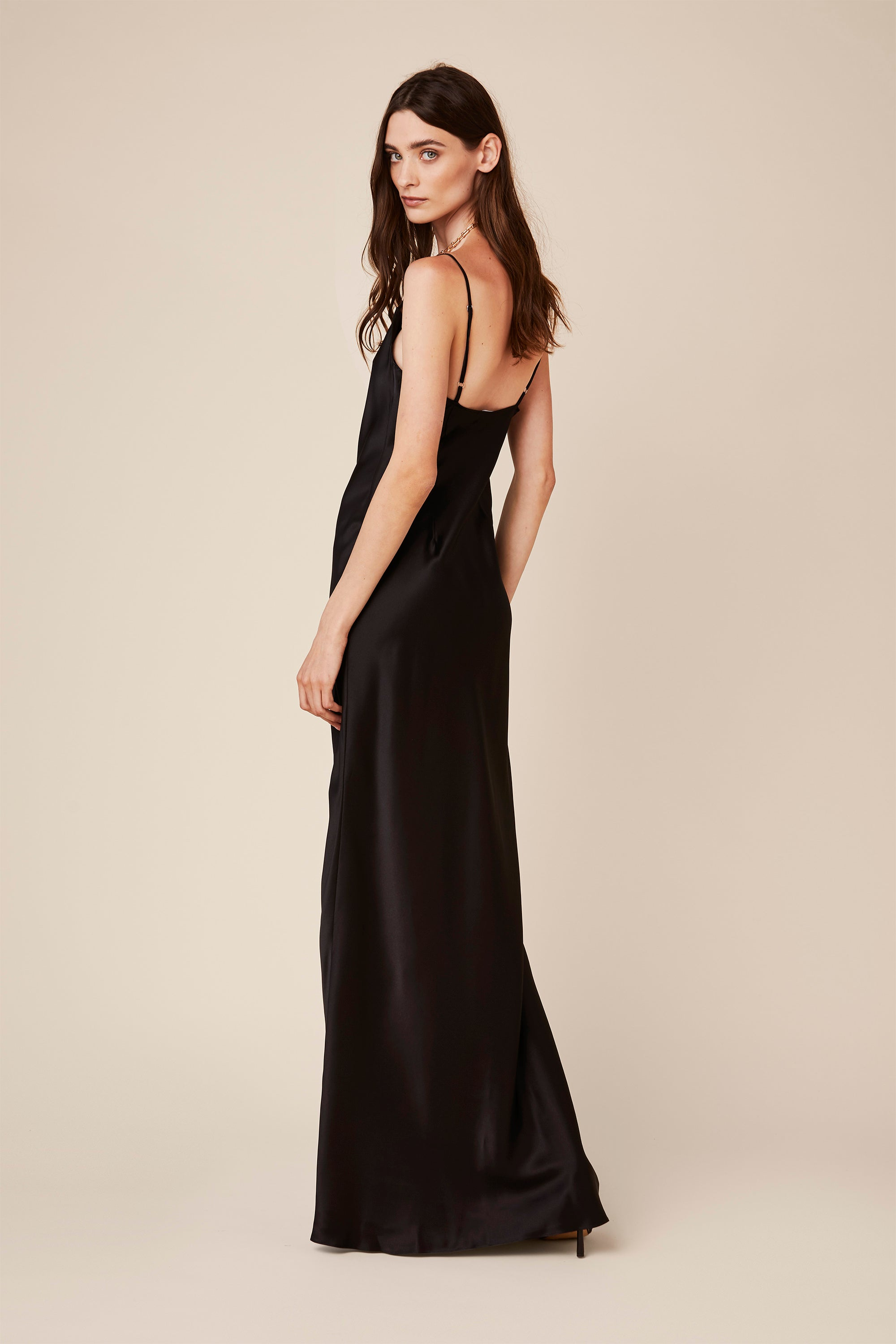 CHASE SILK DRESS | BLACK - Final Sale