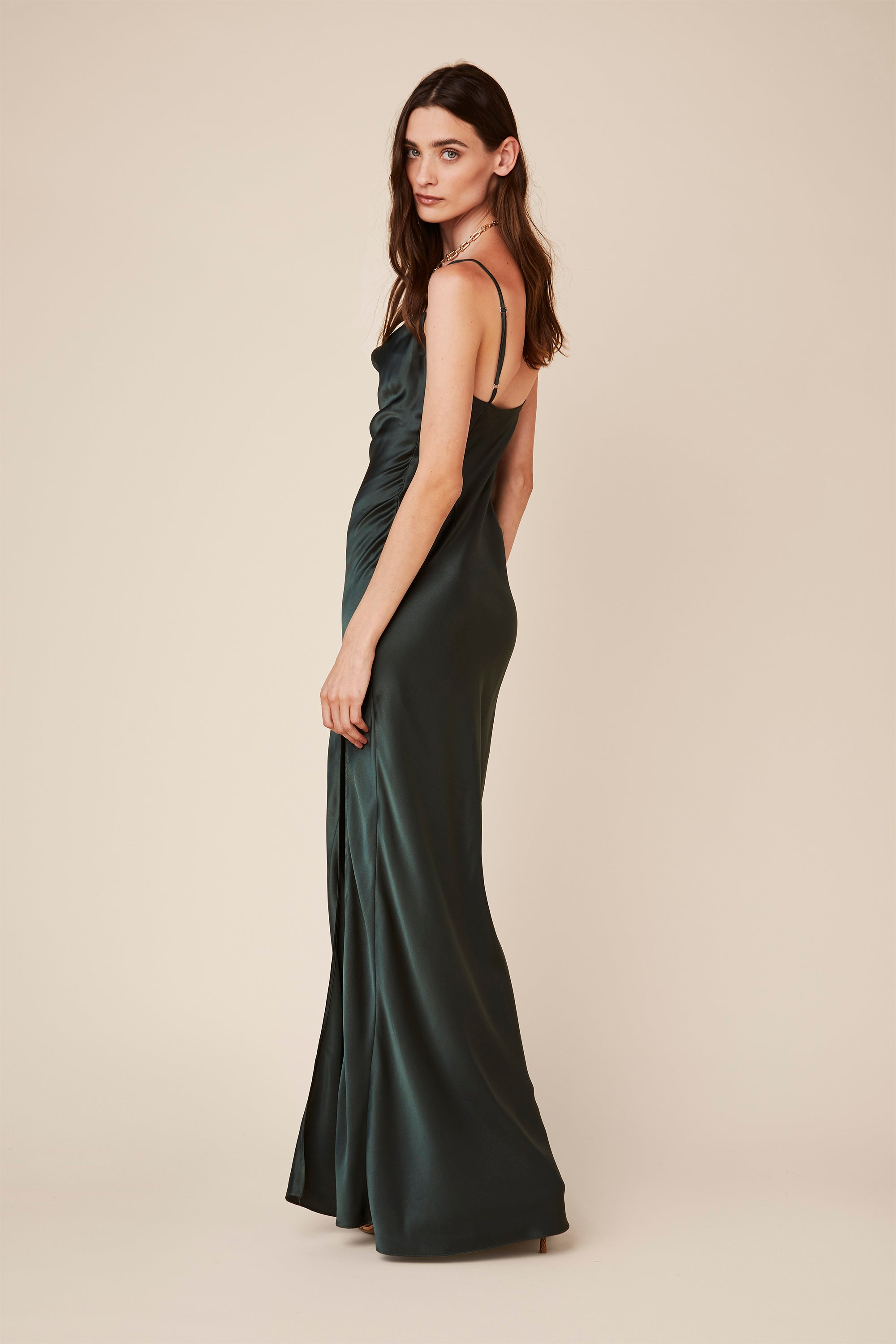 CHASE SILK DRESS | HUNTER GREEN - Final Sale