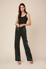 PENELOPE SILK PANTS | HUNTER GREEN - Final Sale