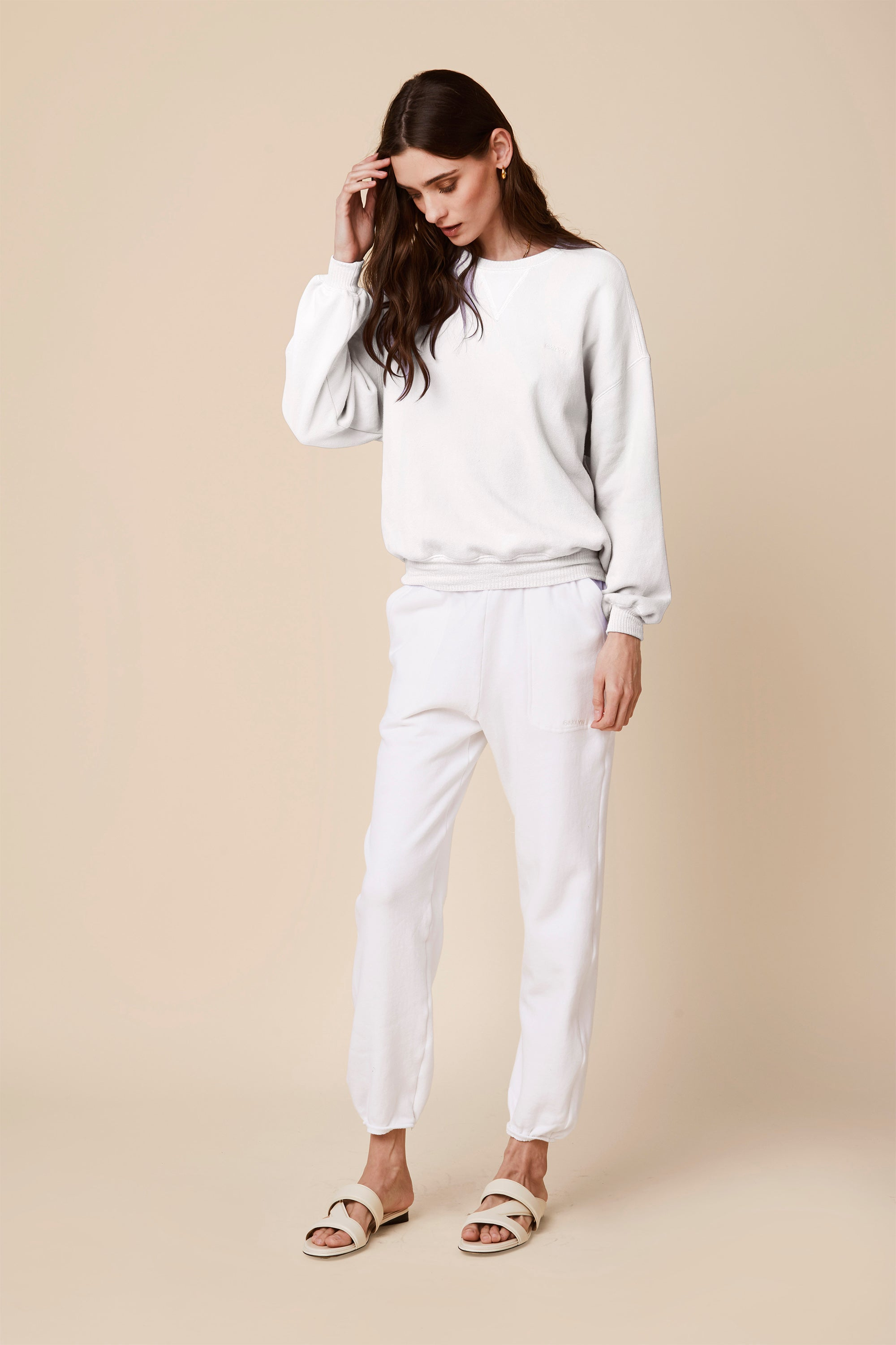 FRANKIE FLEECE SWEATSHIRT | WHITE
