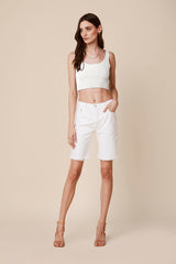 FREYA DENIM SHORTS | WHITE
