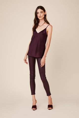 GLORIA SILK TANK | BORDEAUX