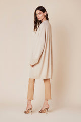 MAKENNA LONG CASHMERE SWEATER  | FAWN - Final Sale