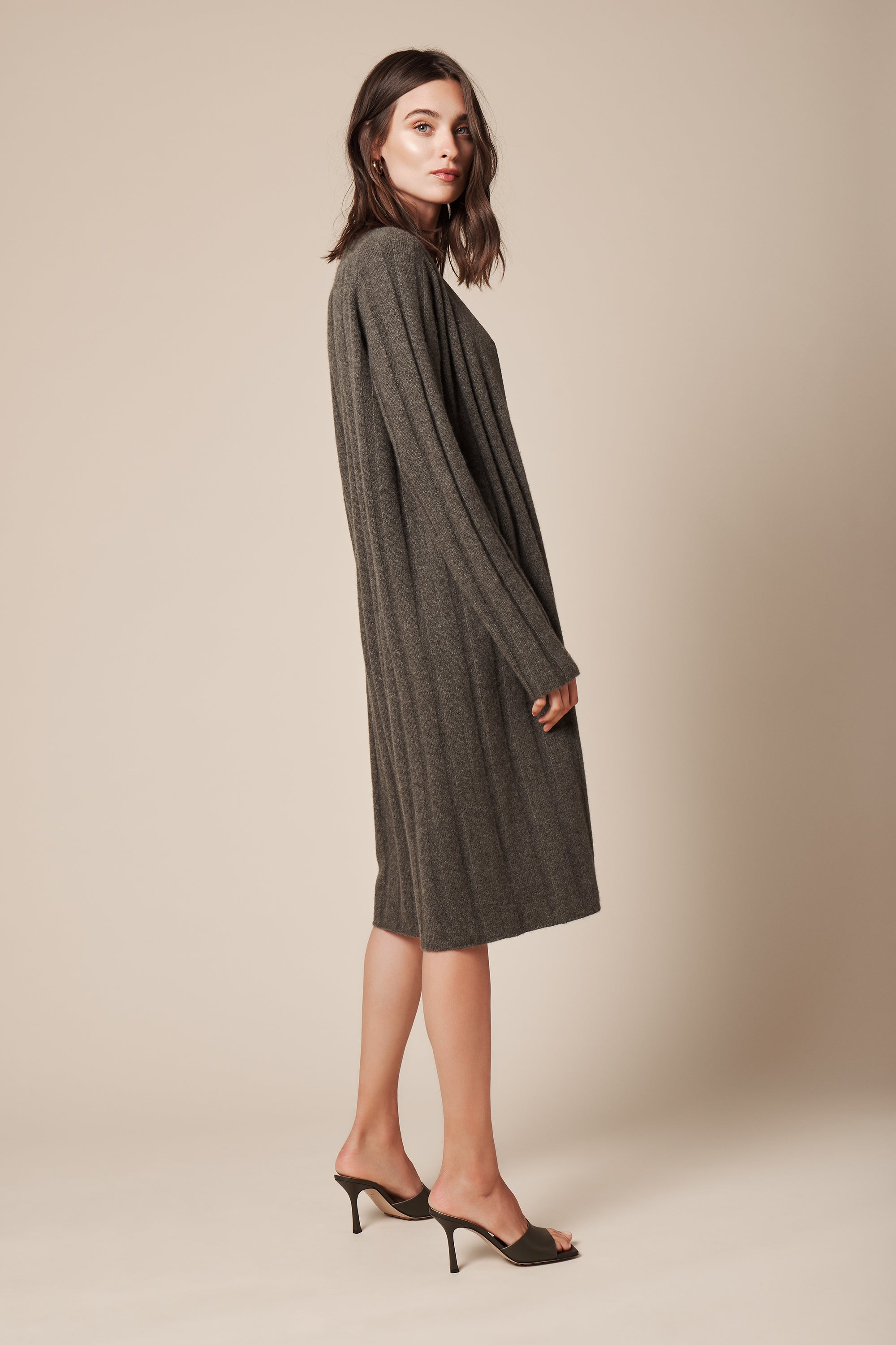 CORY CASHMERE COAT | OLIVE -FINAL SALE