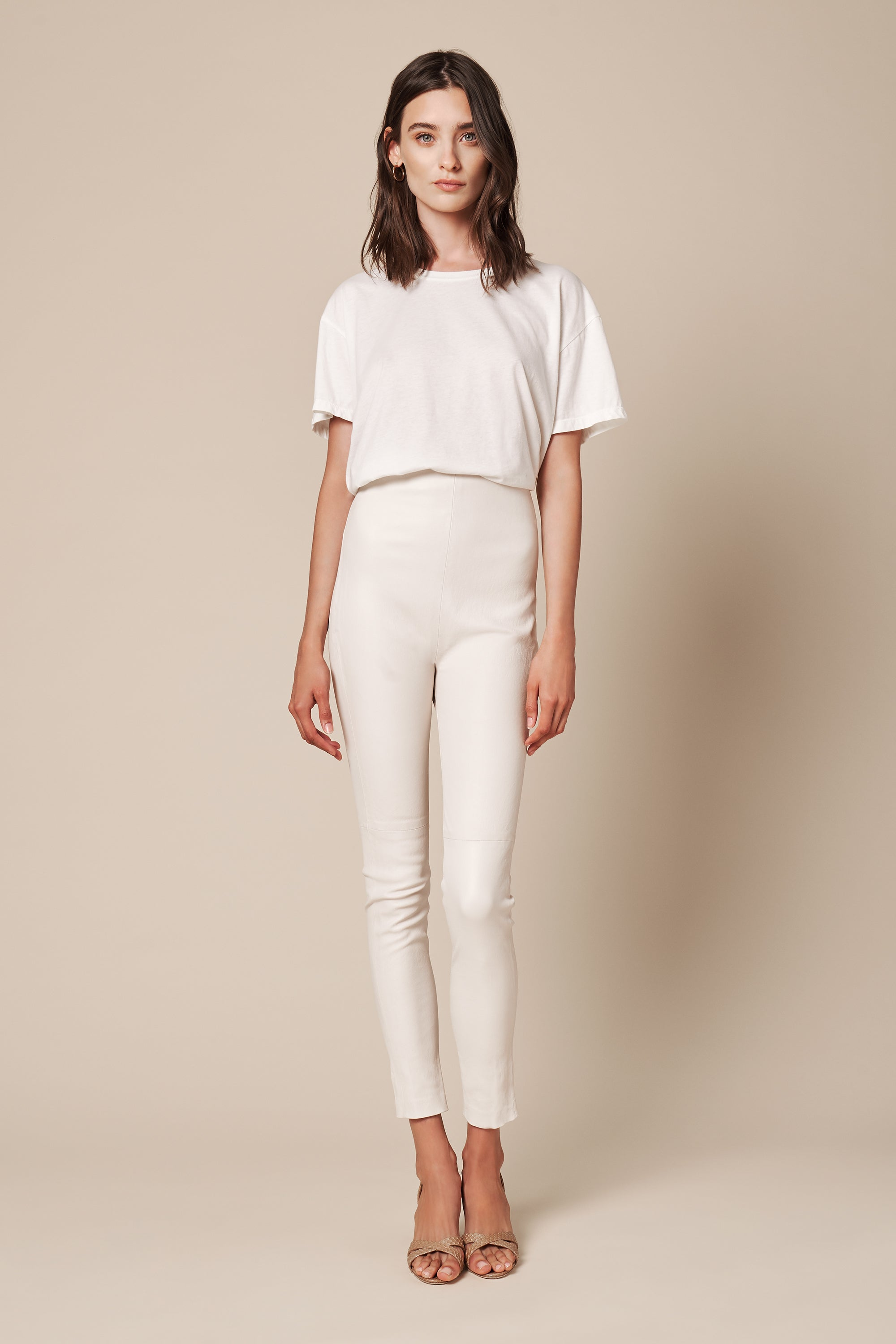 JESSICA LEATHER PANT | POWDER