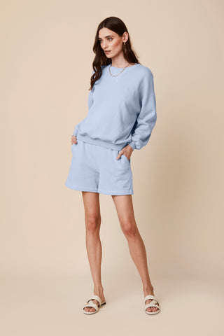 JULES FLEECE SWEATSHORT  | SKY