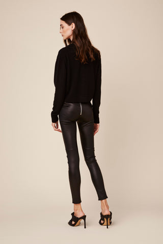 JESSICA HIGH WAISTED LEGGING | BLACK LEATHER