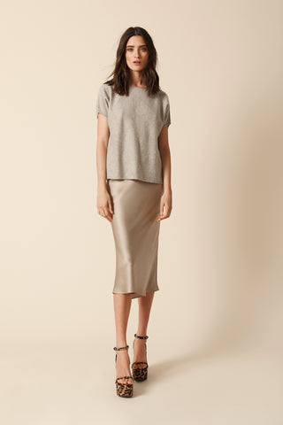 LONDON CASHMERE TEE | TAUPE