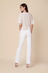 MARIEL CASHMERE POLO SHIRT | WHITE