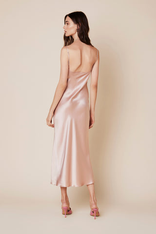 TAYLOR SILK DRESS | CHERRY BLOSSOM - Final Sale