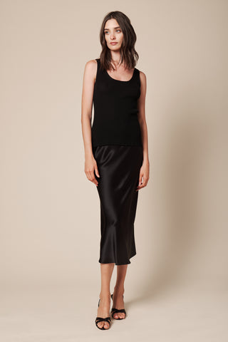 CASSIE CASHMERE TANK | BLACK -FINAL SALE