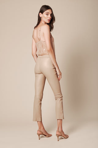 DEVON LEATHER PANT | CARAMEL