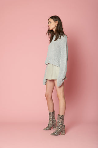 MERCY SEQUINED CASHMERE PULLOVER | GREY - FINAL SALE