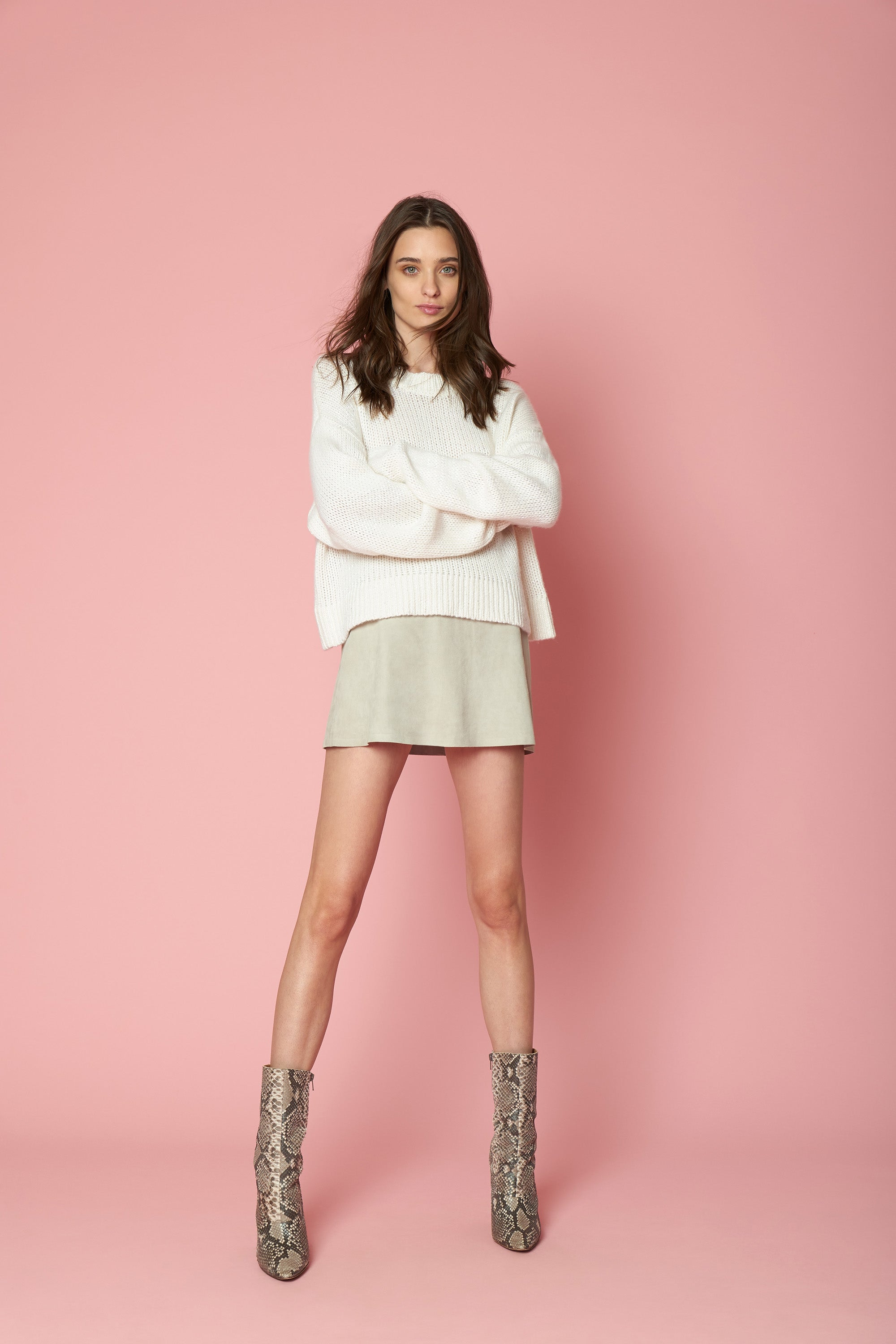 MERCY SEQUINED CASHMERE PULLOVER | MILK