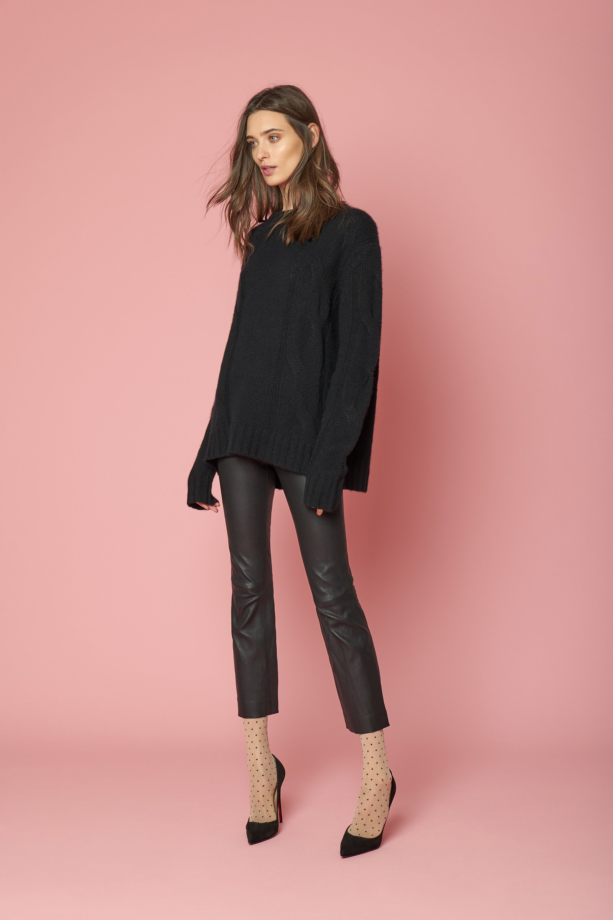 KATE CASHMERE PULLOVER | BLACK